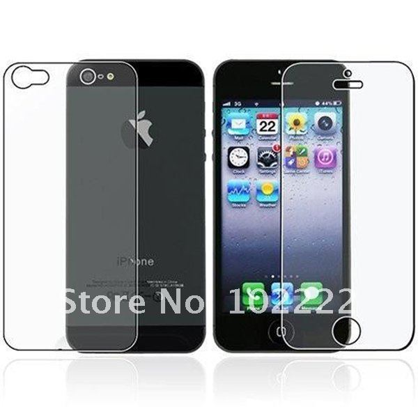 Front+Back Full Body Clear Screen Protector Film for iPhone 5 5G without retail package, 1000pcs(500sets)/lot