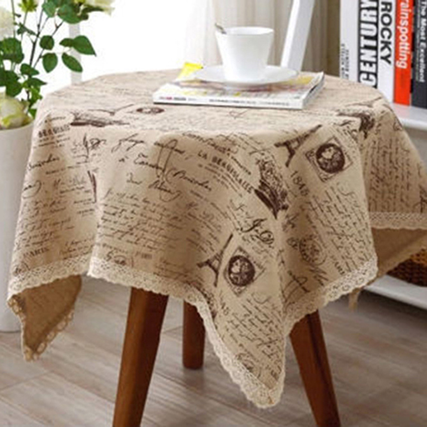 Fashion Hot Sale Universal Linen Coffee Tablecloths Table Cover Small Crown Pattern Picnic Wedding Tablecloth 5-34 ZYH(China (Mainland))