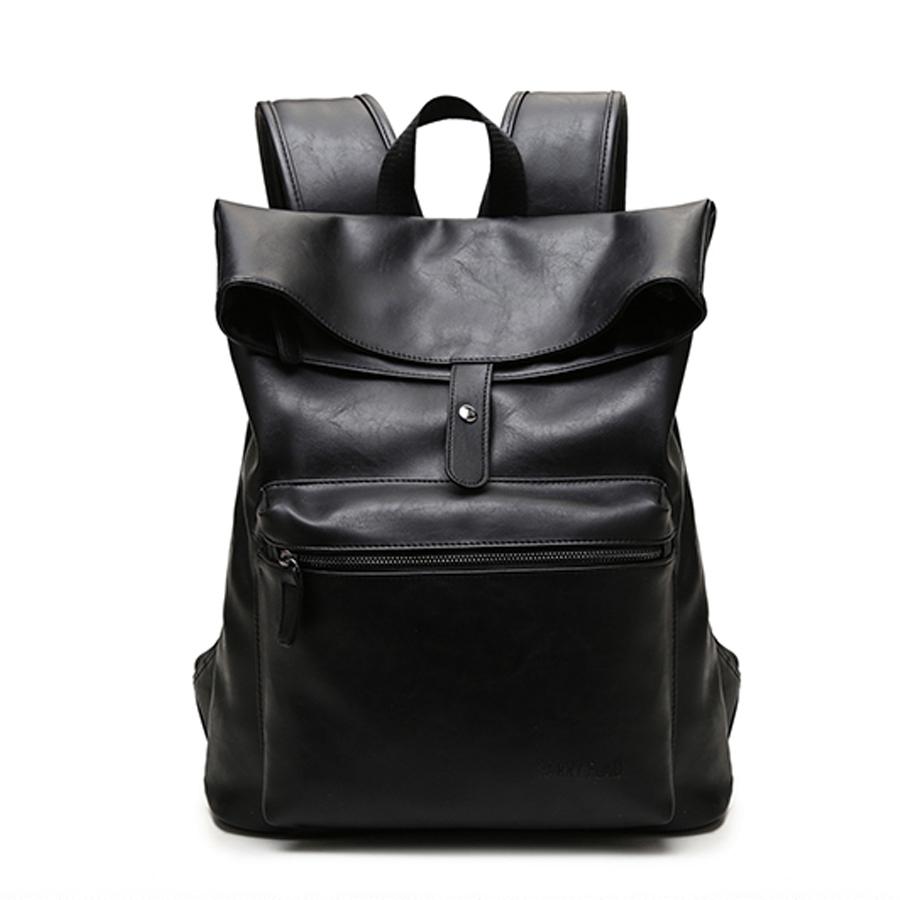 new fashion genuine brand men backpack leather vintage duffel bag large men travel bag business men shoulder Laptop bag