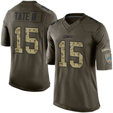 Men's #15 Golden Tate III Elite Green Salute to Service Football Jersey 100% stitched(China (Mainland))