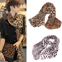 Chiffon Silk Scarf Female Summer All-match Soft Scarf Long Design Air Conditioning Tippet Lenco de Seda Leopard Print Pattern