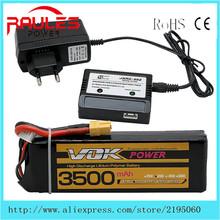 VOK Drone Battery 11.1V 3500mAh 35C XT60 Plug Lipo- Battery Top Power Upgrade Lipo Battery Helicoper Quadcopter Control Toys