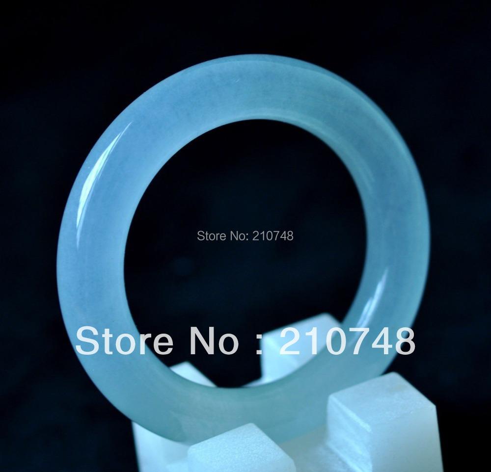Chinese Natural hand-carved Jadeite Bracelet 59mm - Home Decor Crafts honesty-shop998 store