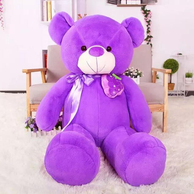 Beauty Purple big Giant Teddy Bear Kids Toys stuffed dolls toy Animals Valentine's Day Birthsday Gift - Love Baby store