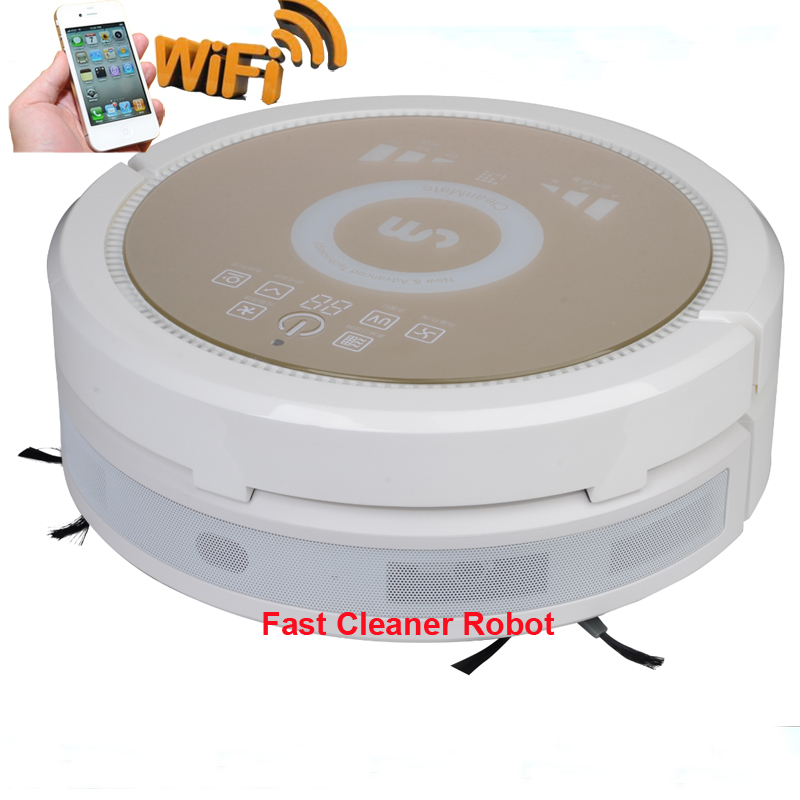 Free SPSR Shipping to Russia/Intelligent Robot Vacuum Cleaner 6 in1 multifunctional cheap robot vacuum cleaner with air purifier(China (Mainland))
