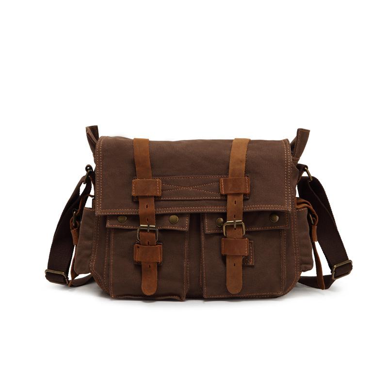 Vintage Trend Men Military Messenger Bags Sport Canvas Male Shoulder Bag Casual Outdoor Travel Hiking Messenger Bag