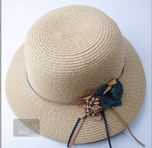 Fashion Panama Straw Hat Solid Sombrero Chapeu Elegant Summer Women 4 Colors Sun Beach Cap - Practical goods for you store