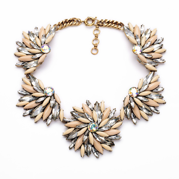 2014 New Arrival Factory Sale Classic Major Suit Luxurious Large Crystal Choker Necklace Women Jewelry Gift(China (Mainland))