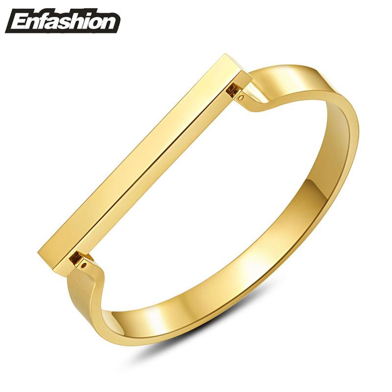 Enfashion Jewelry Morden Flat Cuff Bracelet Noeud armband Gold Bangle Bracelet For Women Bracelets Manchette Bangles Pulseiras(China (Mainland))