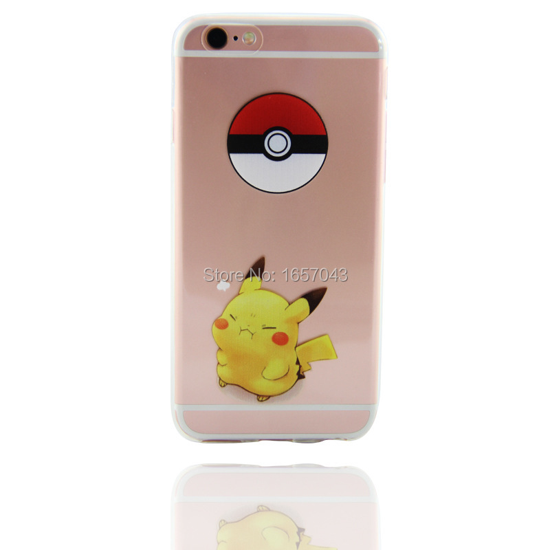 HOT For iPhone 5s Cover Pokemons Go Pocket Monsters Pikachus Cute For iphone 5 5s SE 6 6s 6Plus 7 7Plus Case Clear Phone Cases