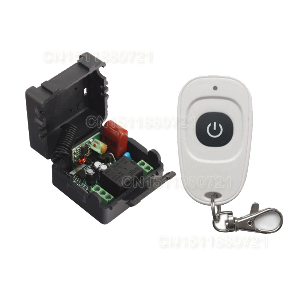 AC220V RF Wireless Mini Switch Relay Receiver Remote Controllers For Light switch With White Waterproof Transmitter  <br><br>Aliexpress