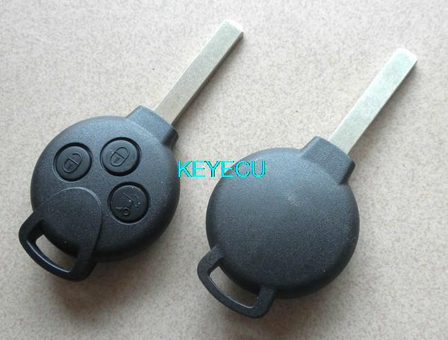 Brand new replacement shell smart remote key case fob 3 for Mercedes benz smart key replacement