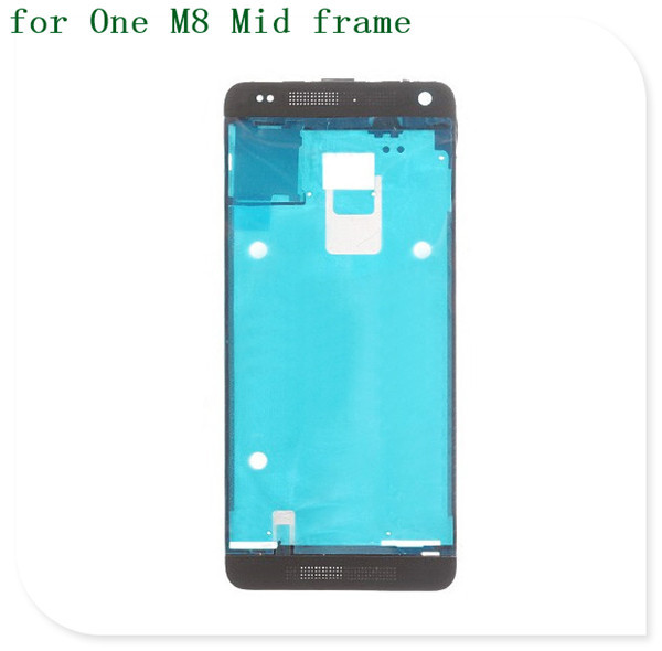 Replacement 100% Guarantee Housing Front Bezel Frame Middle Plate For HTC ONE M8 Dual Sim card Holder white, Free Ship,5pcs/lot(China (Mainland))