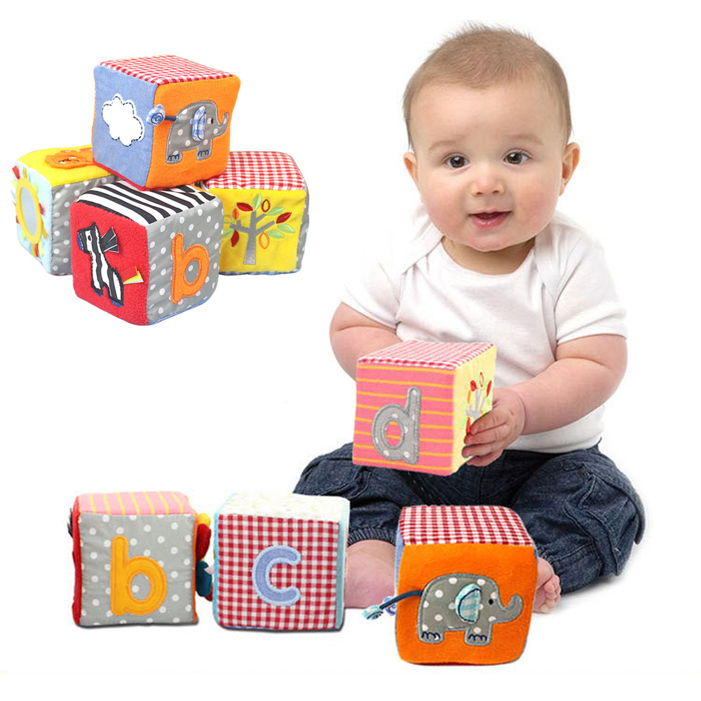 Baby Blocks Toys : New cm baby blocks toy soft cloth plush building