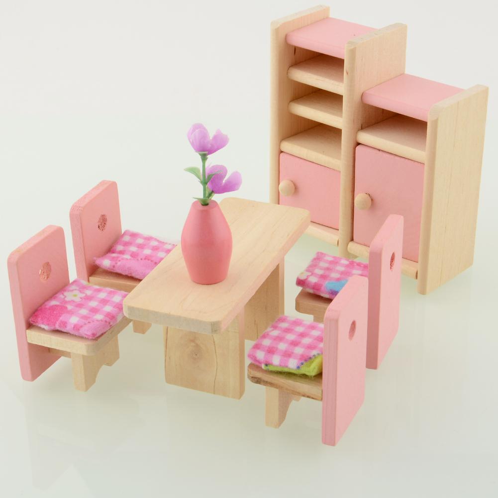 Compra muebles de casa de mu ecas de madera online al por - Muebles para casa ...