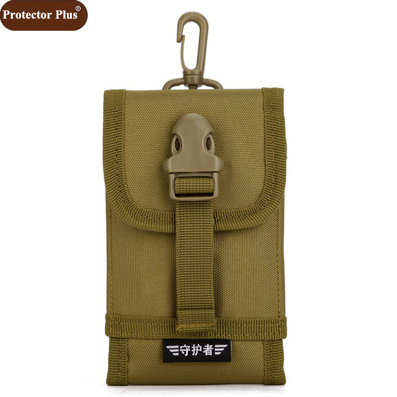 "Protector Plus 2017 Men's Bag 4.8"" Mobile Phone Bags Multi-function Molle Military Vice Bag Tool Pack Mini Small Pack D585(China (Mainland))"