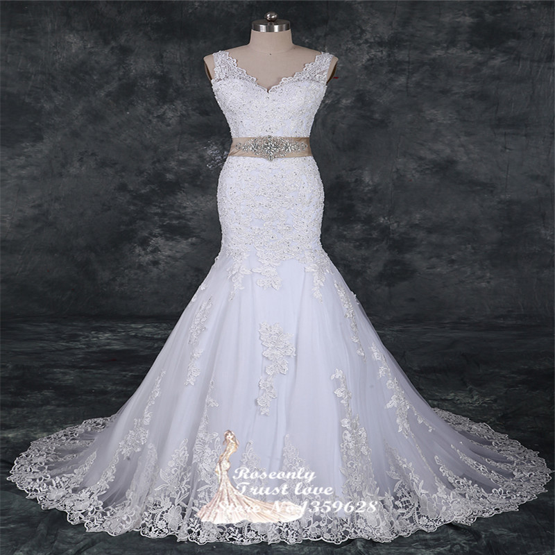 2015 off shoulder luxury lace mermaid wedding dress ltw for Aliexpress mermaid wedding dresses