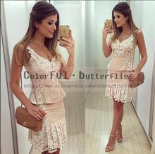 2015 New Arrive Summer Style  Vestido de festa Women Fashion Casual Dress Sexy Lace Dress Vestidos (China (Mainland))
