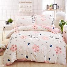birthday present Duvet Cover flat Bed Sheet linen pillowcase Bedding Sets Full King Twin Queen size 3/ 4pcs(China)