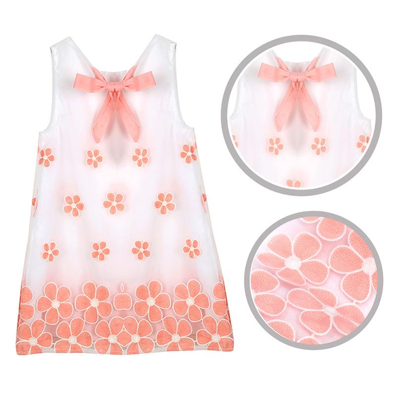 Hot Sales Summer Toddler Dress Kid Girls Tutu Dress Children Girl Clothes Sleeveless Flower Printed Princess Party Dress(China (Mainland))