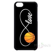 For iphone 4/4s 5/5s 5c SE 6/6s plus ipod touch 4/5/6 back skins mobile cellphone cases cover Infinity Forever Love Basketball