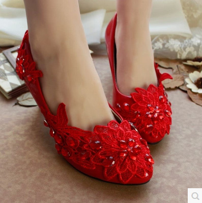 Rhinestone Wedding Shoes Crystal Princess 3/4.5/6//8.5/11CM HIgh Heels Lace Appliques Bride Pump - I'm with you store