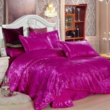 Wedding Luxury Bedding Sets Jacquard Queen/King Size Duvet Cover Set wedding Bedclothes Bed Linen bed Blue(China)
