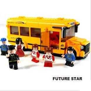 Freeshipping! School Bus SLuban 3D Jigsaw Puzzle Education-assembling toys for kids 496pcs