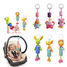 Baby Toys Crib Stroller Toy 0-12 Months Plush Kawii Cartoon Newborn Hanging Baby Rattle Ring Bell Soft Playpen Bed Bell Pram(China (Mainland))