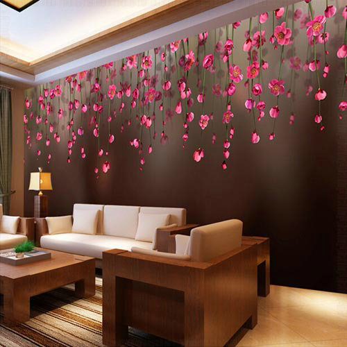 3d wall murals wall paper mural luxury wallpaper bedroom for Bedroom wallpaper designs india