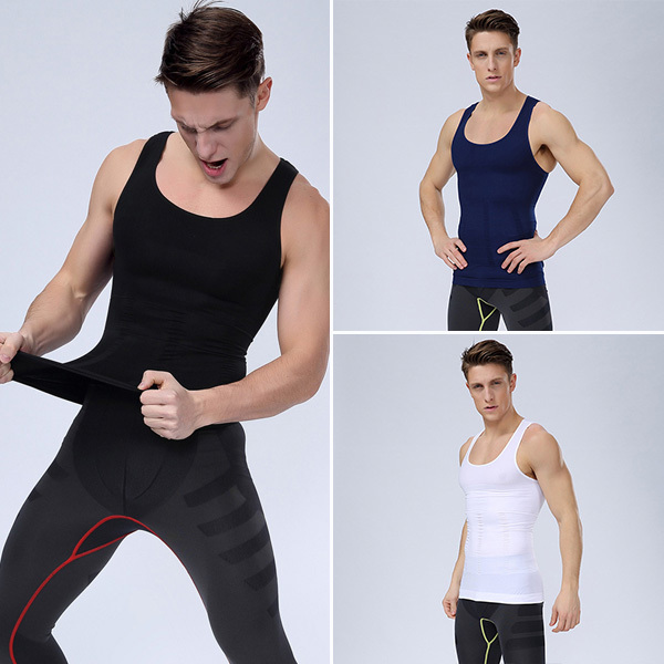Men Athletic Sport Vest Training Sleeveless Undershirt