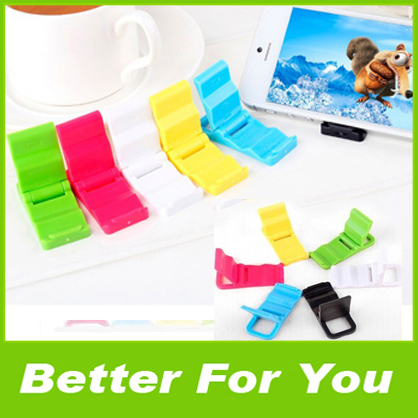 1000pcs/l 2014 Hot sales Universal Mobile Phone Holder Mini Desk Station Plastic Stand Holder For iPhone 5S Samsung S5 Note 3(China (Mainland))
