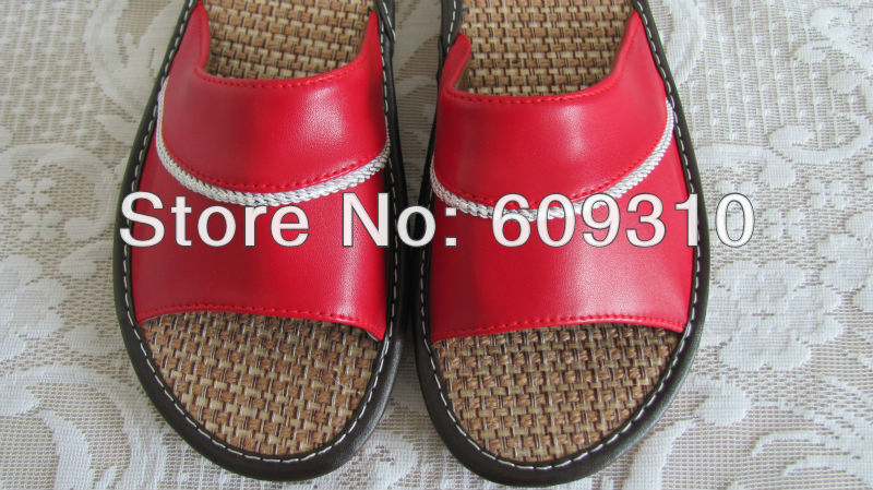 2015 Brand New Genuine leather slippers outsole summer indoor floor shoes home women bathroom Cow Muscle - Cissy Store store