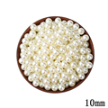 10mm ABS Ivory Imitation Pearl Round Hole Beads100pcs lot Cheap Wholesale Wedding Beaded Plastic Ball For