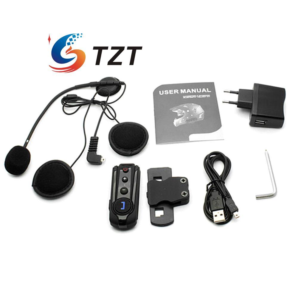BT-S1 1000m Wireless Bluetooth FM Radio Intercom Motorcycle Helmet Headset 1Pair