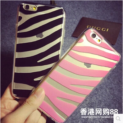 For Cell Phone Soft Transparent Case Cover For Apple iPhone 6 Case Silicone 6 Series Sexy Leopard Case For Mobile Phone(China (Mainland))