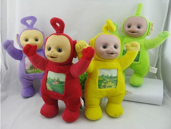 1Pcs 33cm Teletubbies Baby toys plush Dolls 3D Export US 33CM toy for Kids Christmas gifts Children gift TV Doll(China (Mainland))