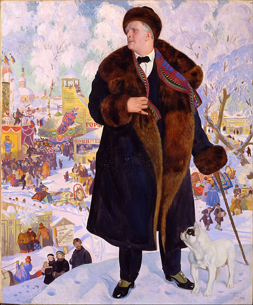 Canvas Art Prints Stretched Framed Giclee World Famous Artist Oil Painting Boris Kustodiev Portrait Of Fyodor Chaliapin(China (Mainland))