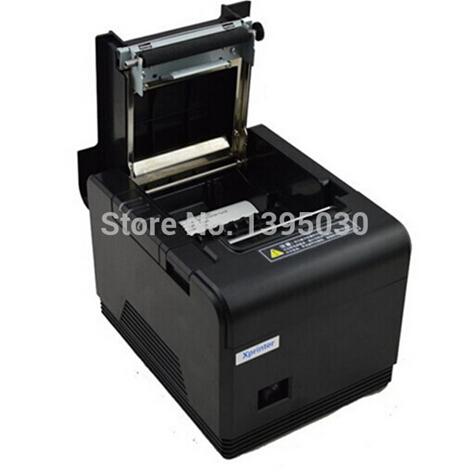 9pcs pos printer 80mm thermal receipt printer XP-200 automatic cutting machine printing speed USB interface 200 mm / s(China (Mainland))