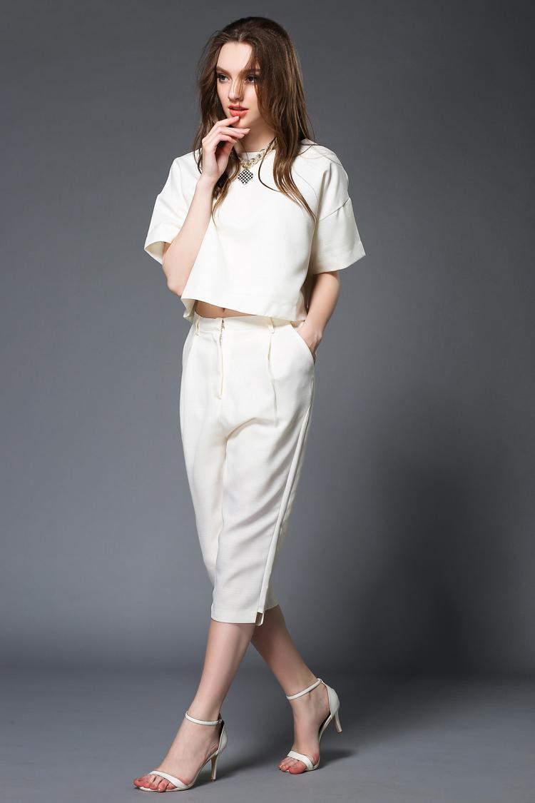Perfect Women Work Pants 2015 Elegant Office Ladies Formal Pants Fashion Pink