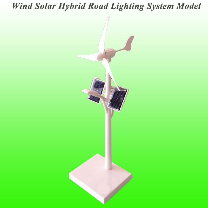 2015 New Arrival Mini Wind Solar Hybrid Road Lighting System Model Mini Solar Toy Mini Wind Generator Model(China (Mainland))