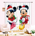 2017 New 3D Children Curtain Christmas Cartoon Mickey Mouse Printed Thicken Cloth Blackout Curtain for