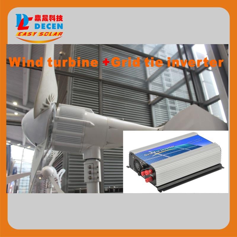 DECEN@ 1000W 48V Wind Turbine Dolphin+1000W 45-90VDC Wind grid tie inverter(China (Mainland))