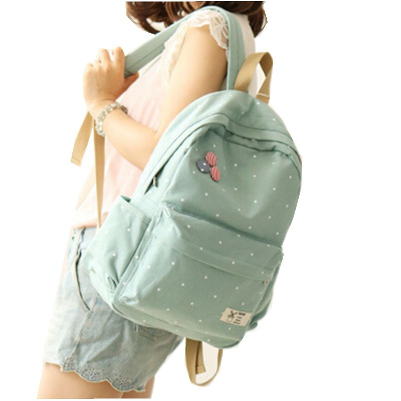 2016 Neweast Canvas Backpack Korean Women Fashion Package School Bag Famous Designer Bags 5 Colors Free Drop Shipping(China (Mainland))