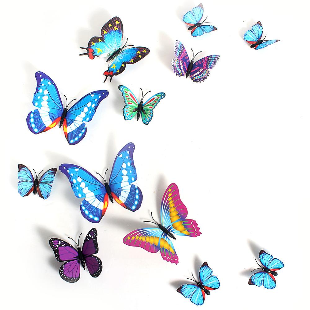 3d butterfly sticker art creative butterflie design decal for 3d butterfly decoration