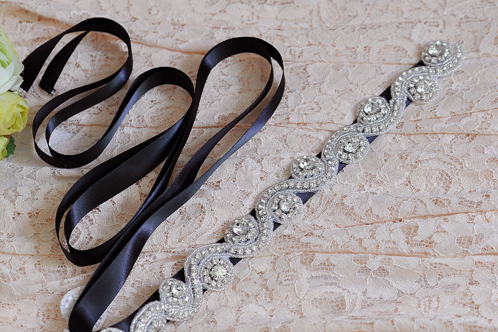 ВерхQUEEN S10 Бесплатная доставка дешевые Свадебное Платье Ремень Кристалл Горный хрусталь Свадебный Sash Свадебное Платье Аксессуары