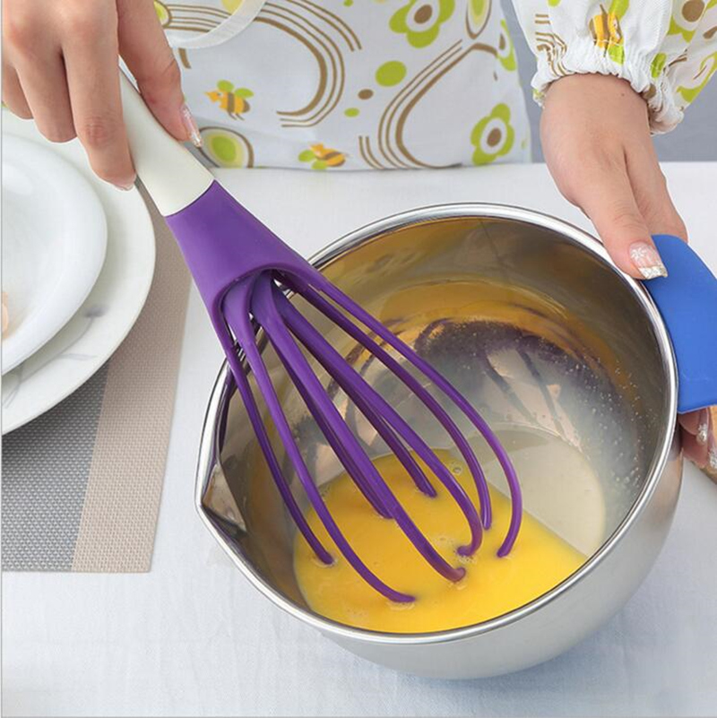 Rotatable Mixer 2in1 Rotatable Egg Beaters Food-grade PP Whisk Cook Tools Kitchen Blender Detachable Washable Egg Mixer(China (Mainland))