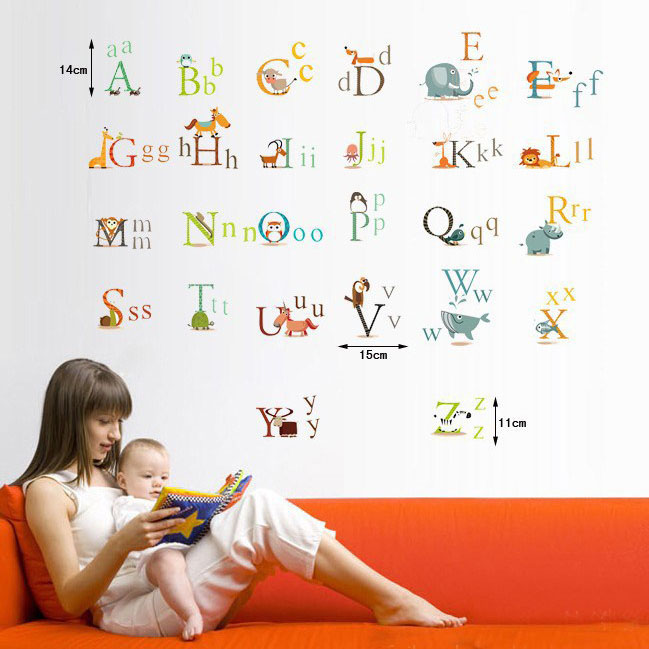 Animated Alphabet List Animal Alphabet Stickers Kids