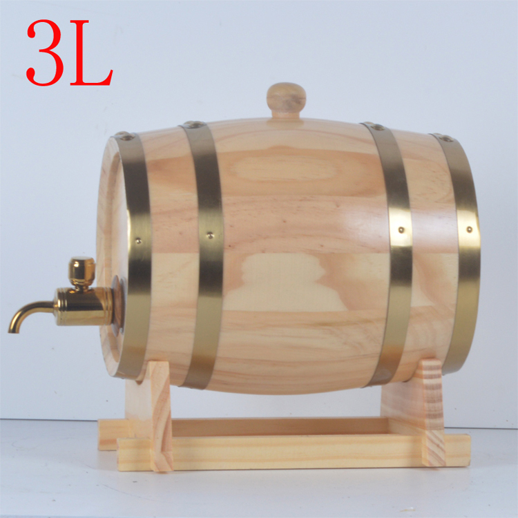 Spot 3L oak Barrels Wooden barrel wine cask red wine barrel Decoration Bucket(China (Mainland))