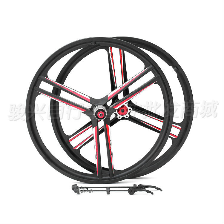 Mountain bike wheel magnesium alloy 20-inch cassette disc brake wheel, rotary type folding bike wheel set(China (Mainland))